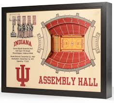 Assembly Hall 3d Seating Chart Indiana Hoosiers Wooden 25 Layer Stadiumview 3d Wall Art