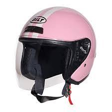 Custom Bilt Womens Roadster Retro Open Face Motorcycle Helmet Xs Pink Cream