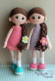 Resultado de imagen para imagenes de dos muñecas tejidas al crochet