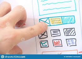 App Developer And Designer Developer Software Designer Working With Design Stock Photo