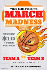 March Madness Flyer Customize 260 March Madness Poster Templates Postermywall
