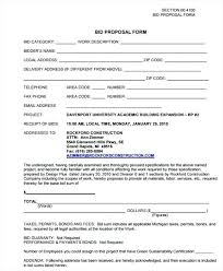 Contract Bid Proposal 7 Free Contractor Bid Form Examples Construction Proposal Example