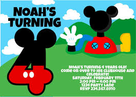 mickey mouse birthday invitations eysachsephoto com mickey mouse birthday invitations