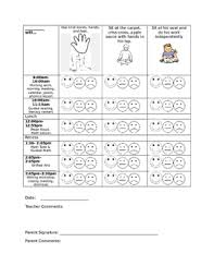 Free Editable Behavior Chart Daily Behavior Chart Editable
