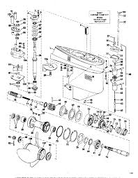 mercury outboard lower unit parts diagram inspirational gearcase parts for 1972 100hp 100esl72r outboard motor of