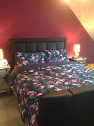 tesco fox ivy fl teal kingsize duvet set 1 of 4 see more
