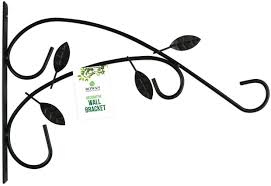 sentinel hanging basket wall bracket metal leaf garden heavy duty up to 12