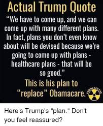 Trump Healthcare Quote