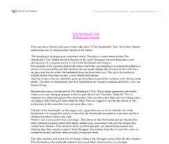 the handmaid s tale theme essay  the handmaid s tale theme essay
