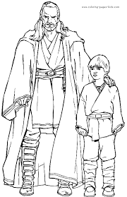 Star Wars Color Page Coloring Pages For Kids Cartoon Characters