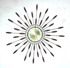 vintage starburst wall clock