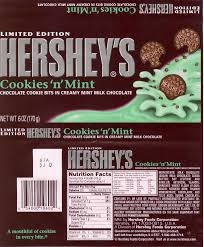 hershey candy bar wrapper mikes candy bar page hersheys cookies n mint