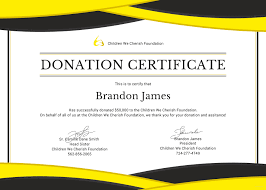 Donation Certificate Template Free Donation Certificate Template in Adobe Photoshop Microsoft 1