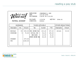Reading a paystub #worksheet #printable #ed #jobcoach #lifecoach ...