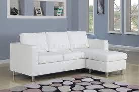 kemen sectional in white vinyl sofa by acme