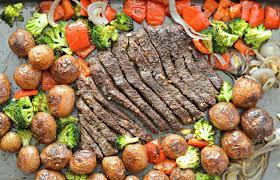 sheet pan flank steak with garlic