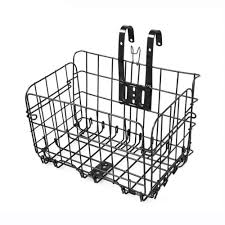 Foldable metal wire basket for bicycle front rear hanging road mtb