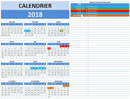 calendrier excell calendrier 2018 excel calcul