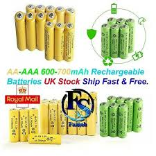 aa rechargeable batteries 1 2v 600