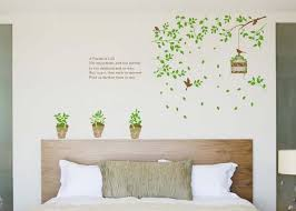 living room wall decal removable wall art green birdcage living room wall sticker