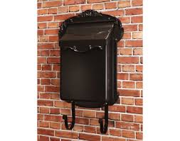 residential mailboxes wall mount. Image Of: Aluminum Black Wall Mount Mailbox Residential Mailboxes W