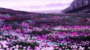 Purple flower landscape - great artistry! - Pure Anime Gallery .