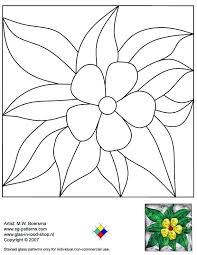 Stained Glass Flower Patterns Delectable Stain Glass Flower Patterns Patterns For Free 48d Stained Glass