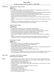 Survey Party Chief Resume Samples Velvet Jobs