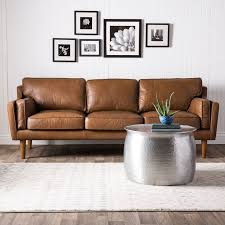 modern brown leather sofas. Brilliant Brown Contemporary Brown Leather Sofa Mid Century Intended Modern Sofas