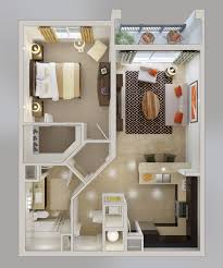 One  Bedroom ApartmentHouse Plans - Luxury apartment bedroom