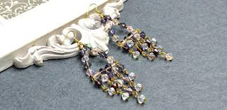 chandelier glass bead introduction long chandelier earrings with brilliant electroplate glass beads chandelier replacement glass beads