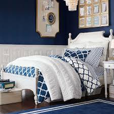 dark blue bedrooms for girls. Lucky Clover Reversible Duvet Cover + Sham. Girls Bedroom Dark Blue Bedrooms For