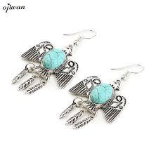 gypsy earrings aretes para mujer indian native american jewelry navajo earrings aritos de mujer boho drop