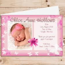 Baby Announcement Cards 10 Personalised Baby Girl Birth Announcement Thank You Photo Cards N74