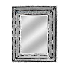 three hands wooden framed mirror
