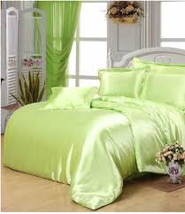 yellow green satin silk bedding set super king size queen full double quilt duvet cover fitted bed sheets bedspreads lime gray twin comforter duvet covers
