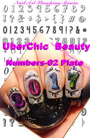 Nail Art Stamping Mania: UberChic Beauty Numbers-01 Plate and New ...