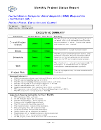 Project Progress Report Sample Monthly Project Status Report Templates At