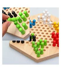 ... Trinkets & More - Wooden Chinese Checkers Hexagon Board with Wooden  Marbles | Board Games Superb