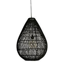 Rotan Lamp Druppel Zwart Skyler Store