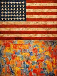 jasper johns flag and map moma thinking of using this as an idea but with the ukrainian flag and a map of ukraine