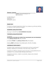 Download Resume Format For Freshers Doc New 28 Resume Samples