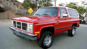 1988 GMC Jimmy 4x4 Apple Red 1 Owner Fuel Injected A/C 4 Speed ...
