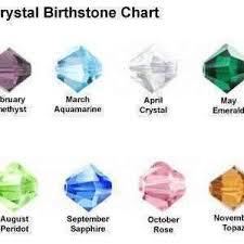 Swarovski Crystal Birthstone Chart Baby Foot Birthstone Swarovski Crystal Bracelet