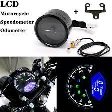 Universal Digital <b>Motorcycle Speedometer Odometer</b> Gauge Backlit ...