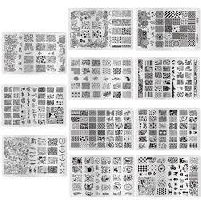 Moda 11 Disegni Modelli Diy Nail Art Stencil Di Bellezza Immagine