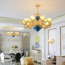 regrom luxury chandeliers lighting led iron chandelier country french style hanging lights luminaries dining room coffee villa bronze chandelier wooden