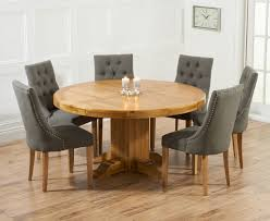 the torino 150cm solid oak round pedestal dining table 54 round dining table with 6