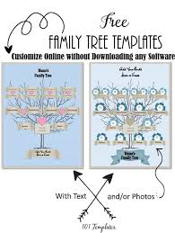 Family Tree Picture Template Free Editable Family Tree Maker Templates Customize Online