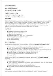 Desktop Support Engineer Resume samples VisualCV resume samples Apamdns